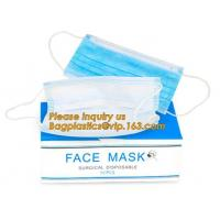 China Non-woven Medical Surgical Mouth Face Mask,Surgical Printed Medical Nonwoven Disposable Face Mask With Ear Loops bagease wholesale
