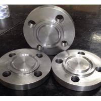 China Compatible Stainless Pipe Flanges , Weld On Pipe Fittings Gold Color JIS B 2220 Spades wholesale