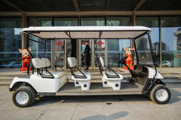 Quality 48V 4KW Electric Transport Cart / Electric Tourist Vehicles 6 Seats CE for sale