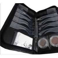 China quick drawing OEM 8 moulds Eyebrow Stenciling Kit with Leather Case wholesale