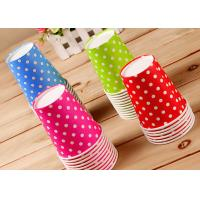 China Children Lovely Single Wall Paper Cups For Hot Cold Drinks , Logo Printing wholesale