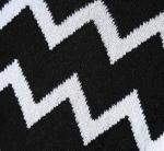 Round Neck Jacquard Mens Knit Sweater European Design Stripe 428g Weight