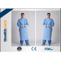 China Lightweight Disposable Surgical Gowns With Knitted Cuff Blood Resistence 130x150 Sterile Coat wholesale