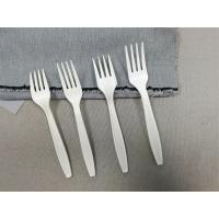 China 5.5/6.3/7 inch compostable cutlery set fork spoon knife none environmental damage corn starch cutlery on sale