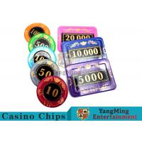 730pcs Crystal Screen Style Numbered Poker Chip Set With Aluminum Case