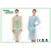 China Hospital Disposable Isolation Gowns , Elastic Cuff disposable medical gowns on sale