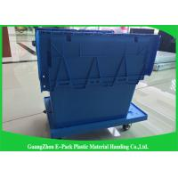 China Heavy Duty Big Plastic Shipping Containers With Attached Lids wholesale
