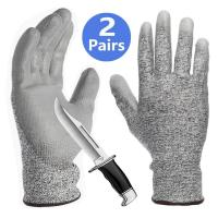 China Grey PU Coated Cut Resistant Gloves Non Slip Breathable Barehand Sensitivity Work Gloves For Fishing wholesale