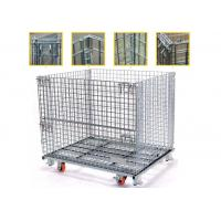 China High Strength Collapsible Wire Containers Storage Cages For Handling Loading / Unloading wholesale