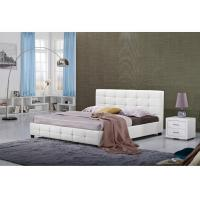 China White Full Size Hotel Platform Bed / Firm Modern Twin Platform Bed wholesale