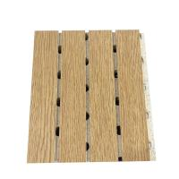 China Wooden Laminated Grooved Sound Absorbing Board Restaurant Decorative MDF Wall Panel wholesale