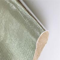China Radiant Barrier Aluminized Fiberglass Fabric Thermal Insulation AL2025 For Motor Vehicle wholesale