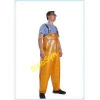 China FQY1907 Yello Oxford Safty Chest/ Waist Protective Working Fishery Men Pants wholesale