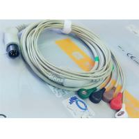 China M&B 6 Pin Snap AHA ECG Patient Cable For Medical Equipment , Electrode Lead Wires wholesale