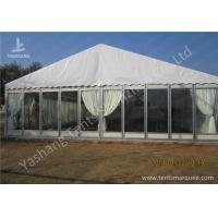 China Transparent Glass Wall Outdoor Luxury Wedding Tents With Full Beautiful Decorations wholesale