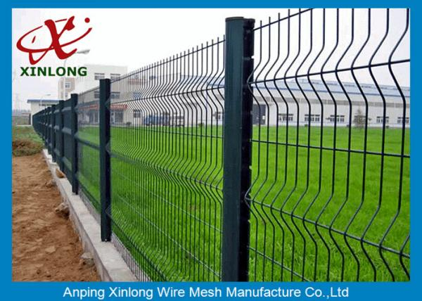 Quality Europe Popular High Anti-Corrosion and Cheap Green 3D Curved Wire Mesh Fence for sale