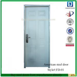 China Fangda 6 panel american steel door on sale