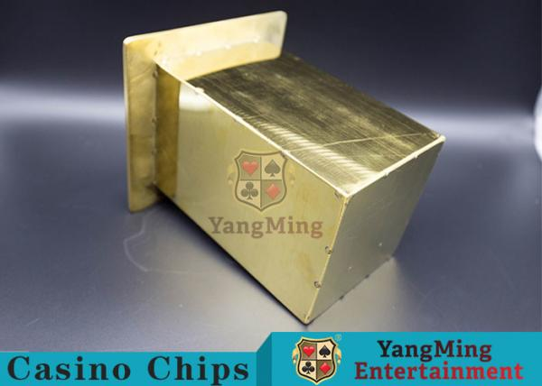 Quality Stainless Steel Poker Discard Holder Easy Loading Be Set In Poker Table for sale