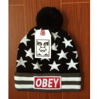 100% acrylic Knitted Hats plain gray custom with OBEY beanies Heat beanies AAA snapback 3D  embroidered