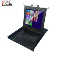 China Usb Connect Port LCD KVM Drawer Super Clear Screen With 8 Port VGA Cable in TUXIN wholesale