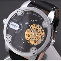 Big Dial Men Hollow Automatic Mechanical Watch Belt Watches