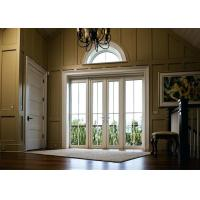 China Sidelights Custom Solid Wood Entry Doors US Villa Style Strong Carton Package on sale