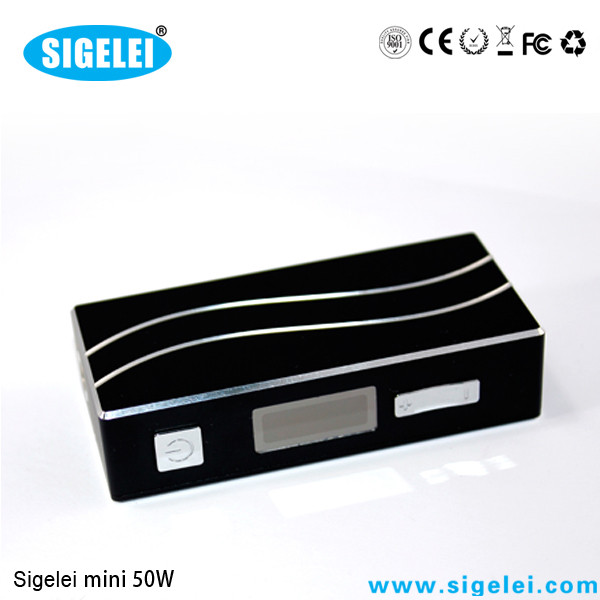 Quality 7W - 50W Sigelei 50 Watts Variable Voltage E Cig 0.2 - 3.0 OHM Resistance for sale