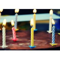 China 4 Colors 24Pcs Swirl Birthday Candles With Holders For Children Party Food Grade wholesale