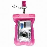 China Waterproof Mobile Phone Pouches, and also for Camera, Made of PVC wholesale