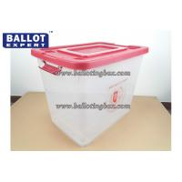 China Recyclable 65 Liter Anti - tampering Clear Plastic Storage Bins PP Material wholesale