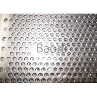 China Perforated Stainless Steel Sheet Metal With Round Holes , Perforated Aluminum Sheet wholesale