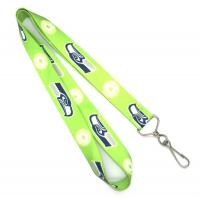 China Green Bus Card Holder Lanyard With Swivel J-hook , 900 X 25mm wholesale