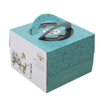 Delicate Corrugated Cardboard Gift Boxes , Birthday Cake Packaging Boxes