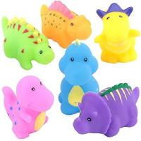 China Soft Floating Dinosaur Rubber Bath Toys Phthalate Free For Tub / Pool / Beach wholesale