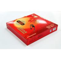 China Elegent Red Printed Recycled Cardbaord Paper Gift Boxes , Moon Cake packaging wholesale