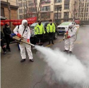 China Electric Start Free Mask Sterilizer Fog Spray Machine / Corona Virus Fog Machine on sale