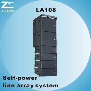 China LA108, 8 Compact Self-Power Line Array Loudspeaker wholesale