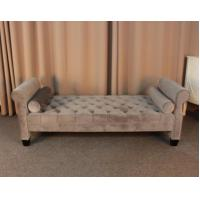 Buy cheap Classis fabric ottoman modern style bench ottman ancient tufted bed end stool from wholesalers
