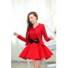China Long Sleeve womens dress suits V Neck Sleeveless Wedding formal dresses wholesale