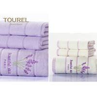 Buy cheap 6 Piece Chevron SPA Hotel Collection Towels Egyptian Cotton Purple Color from wholesalers