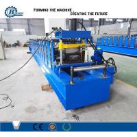 China Keel Steel Profile Stud And Track Roll Forming Machine With Hydraulic Cutting wholesale