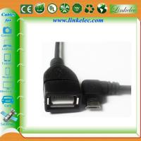 China micro angled usb otg cable wholesale
