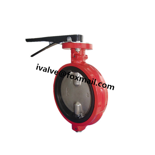 Quality Cast Iron Wafer Type Centerline Butterfly Valves for sale