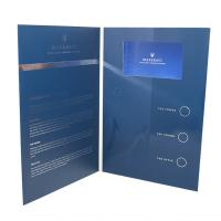 China Folded Paper LCD Brochure Card 1200g Hard Cover Music HD Screen For Advertisement on sale