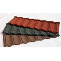 China Wood Shingle Materials Stone Coated Metal Roof Tiles , Galvanized Stone Coated Tile wholesale