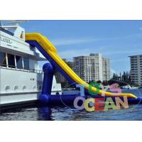 China Funny Inflatable Water Game Slide Toy Customized Yacht Slides on sale