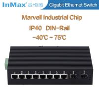 China 10 Ports Full gigabit network Switch with 2 SFP slots 10 /100/1000Mbps IP40 protection wholesale