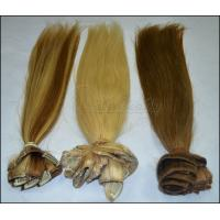 China OEM Straight Human Real Hair Clip In Hair Extensions for Female 613 color in stock wholesale