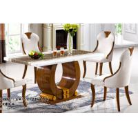 China restaurant modern rectangle 1.4m marble dining table furniture wholesale