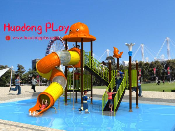 Quality Promotional Water Park Playground Equipment Plastic Reliable Long Life Span for sale